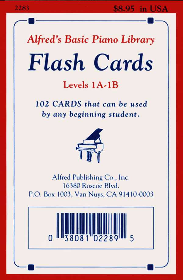 Alfred's Basic Piano Library Flash Cards Levels 1A-1B By Alfred Publishing (EDT)